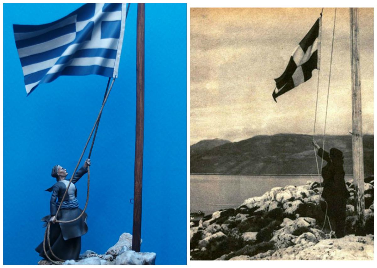 """Η κυρά της Ρω, η νησιώτισσα που ύψωνε την ελληνική σημαία για 40 χρόνια στο  ερημονήσι του Αιγαίου. """"Πέρασα κακουχίες, αλλά εδώ νιώθεις πιο πολύ την  Ελλάδα, χαμένος στο πέλαγος"""" - ΜΗΧΑΝΗ"""